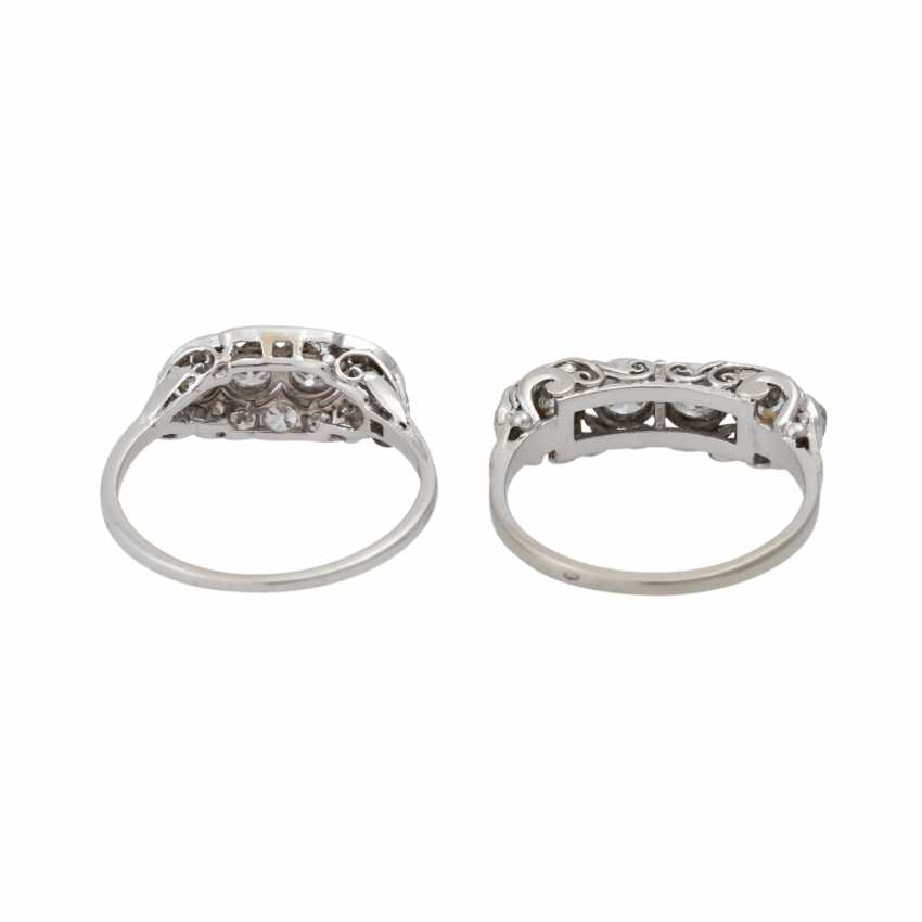 Mixed lot of 2 Art Deco rings with diamonds - photo 4