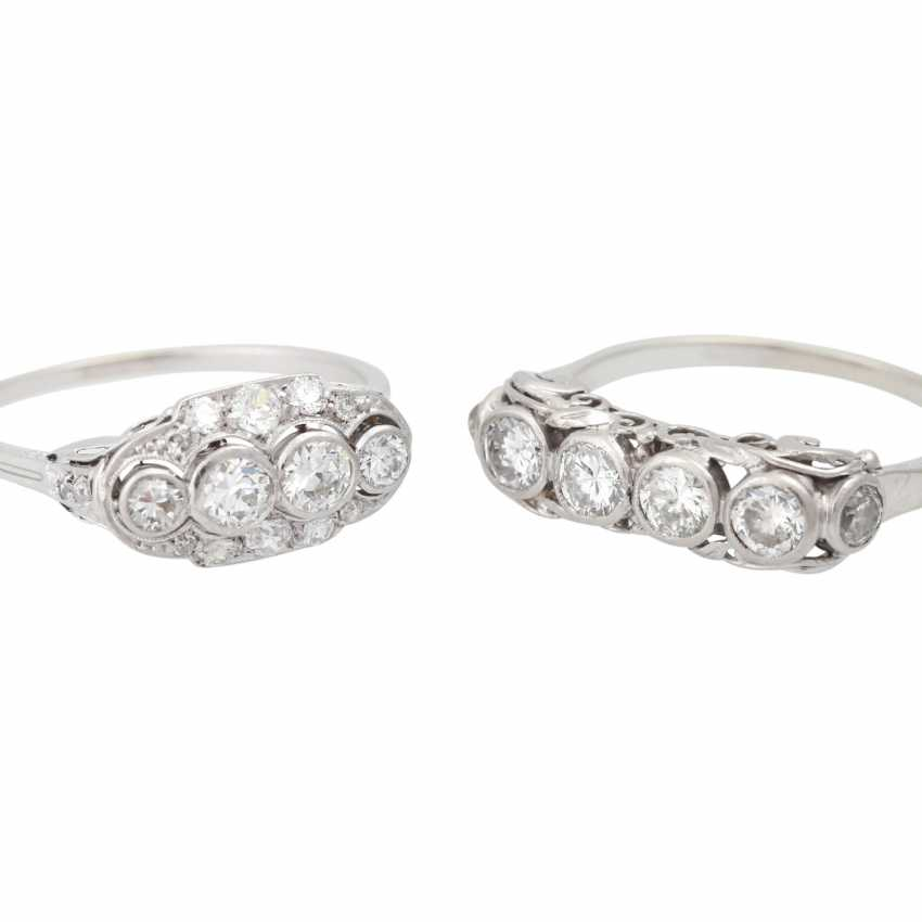 Mixed lot of 2 Art Deco rings with diamonds - photo 5