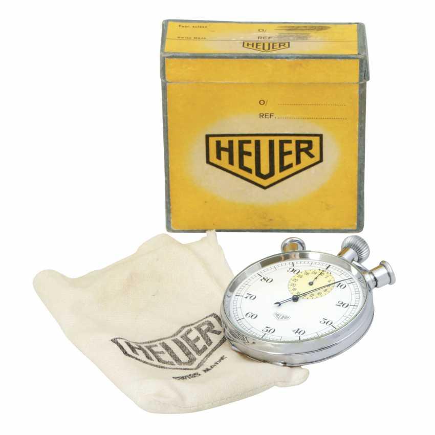 HEUER Vintage Chronograph Rattrapante, Ref. 570. Taschenuhr. - photo 5