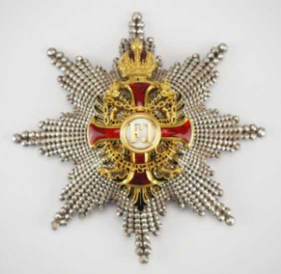 Austria: Imperial Austrian Franz-Joseph-Order, Grand Cross Star, 2nd Type (1872-1918) - photo 1
