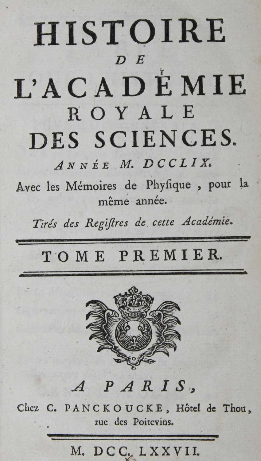 History of the Academie Royale des Sciences. - photo 1