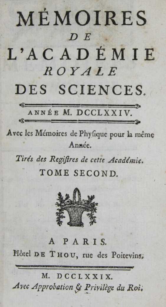 Memoirs of the Academie Royale des Sciences. - photo 1
