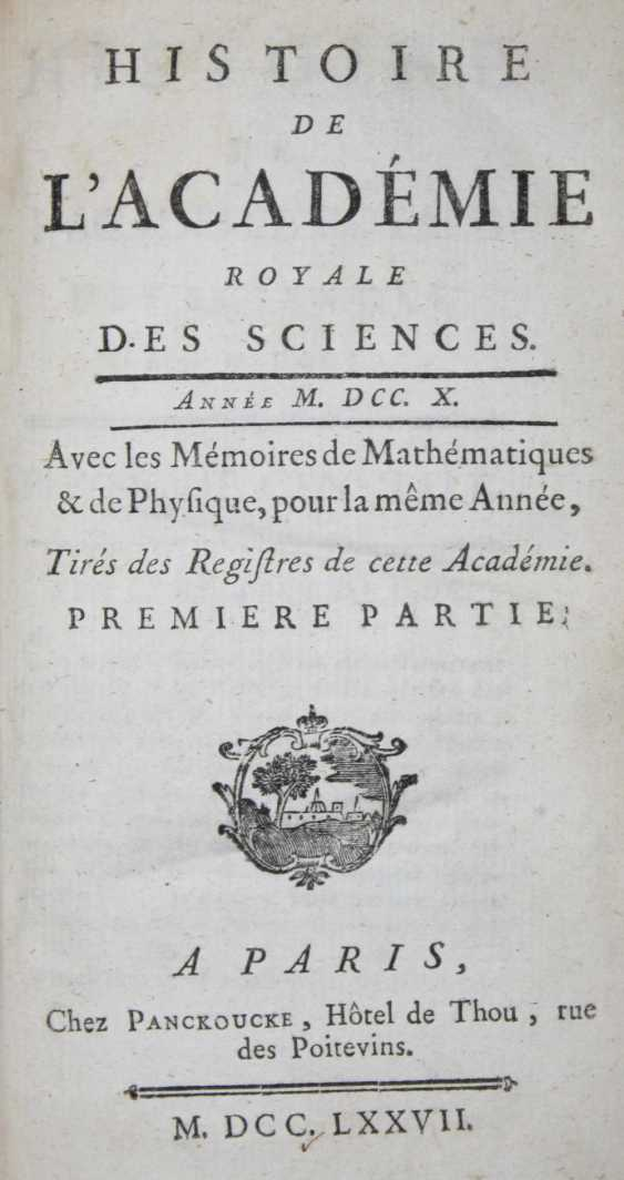 History of the Academie Royale des Sciences. - photo 1