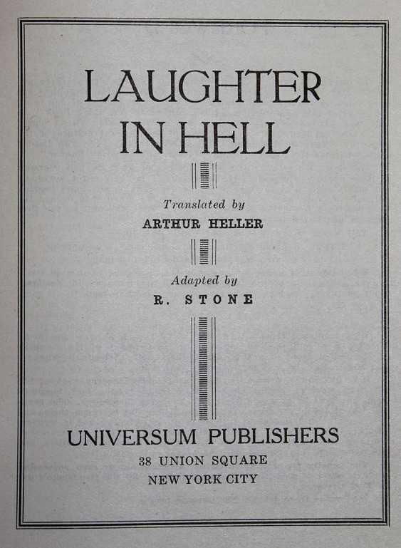 Laughter in Hell. - photo 1