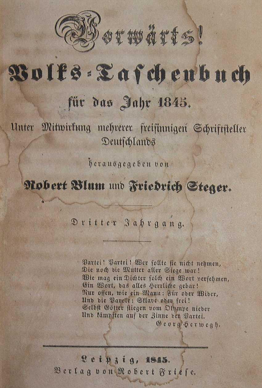 Blum, Rechts unten F.Steger (Herausgeber). - Foto 1