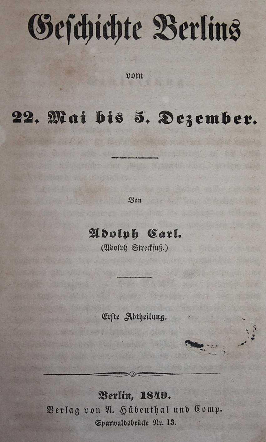 Carl, A. (d. i. Streckfuß, A.). - photo 1