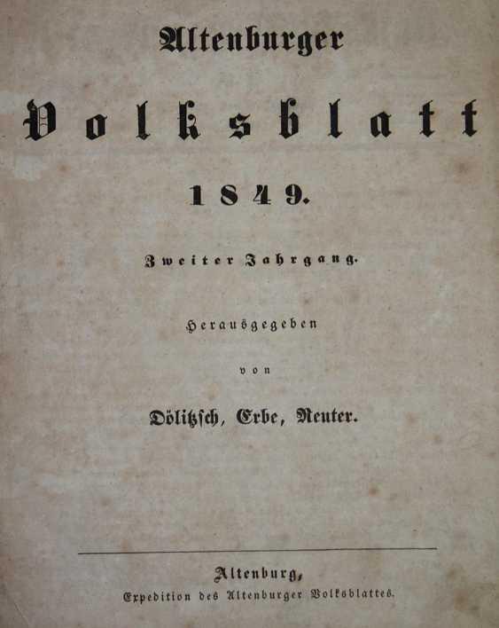 Altenburger Volksblatt. - photo 1