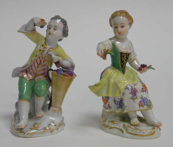 Two Gardener's Children Meissen - photo 3
