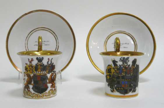 Couple of dedication cups of Bonn in 1846 (for the EC. Free Lord of Wrede) - photo 1