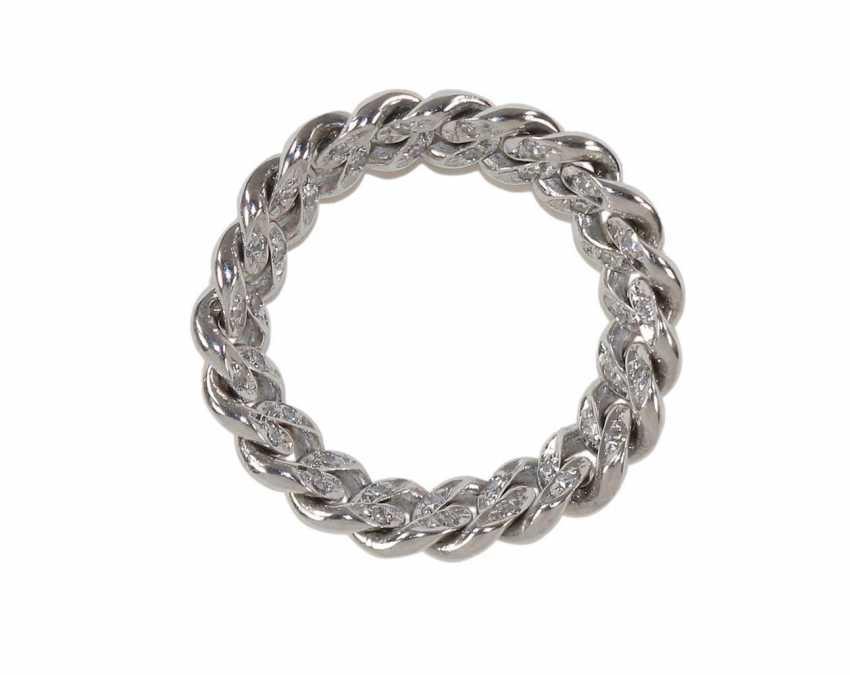 Chain diamond ring 750 WG. - photo 1