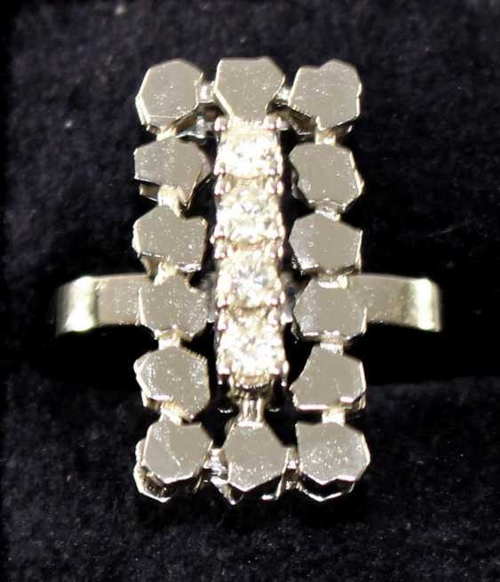 Design Ring In 585 White Gold - photo 2