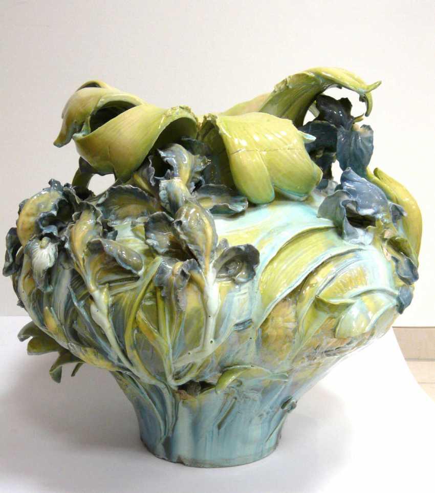 Great Hruschauer Art Nouveau Faience Vase  - photo 1