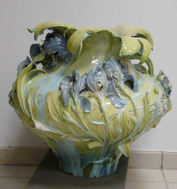 Great Hruschauer Art Nouveau Faience Vase  - photo 4