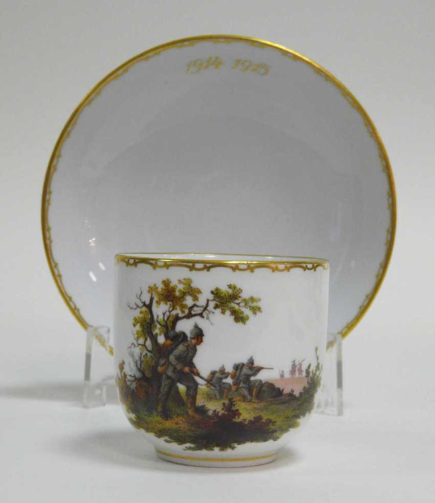 Cup Of Meissen End Of World War I. - photo 1