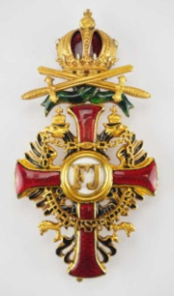 Austria: Imperial Austrian Franz-Joseph order, officer's cross with war decoration and swords