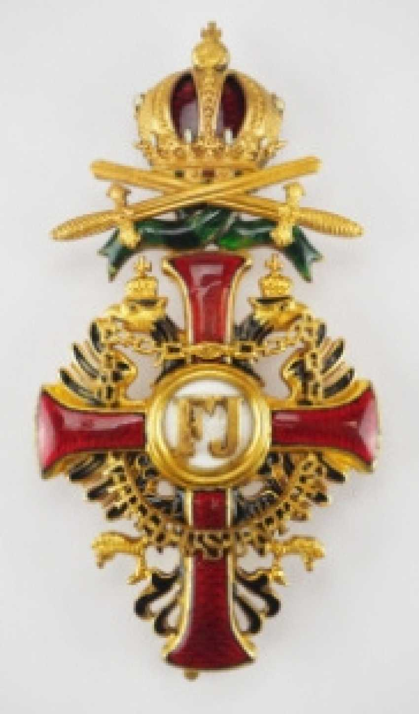 Austria: Imperial Austrian Franz-Joseph order, officer's cross with war decoration and swords - photo 1