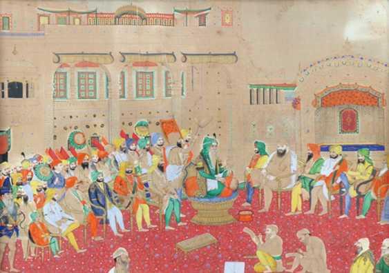 Persian Gouache Painting. - photo 1