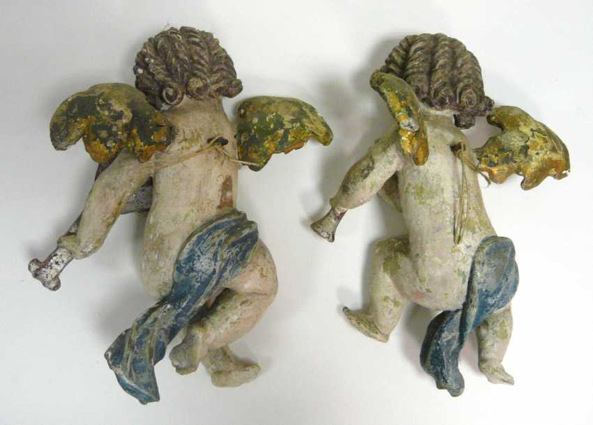 Pair of angels playing musical instruments - photo 2