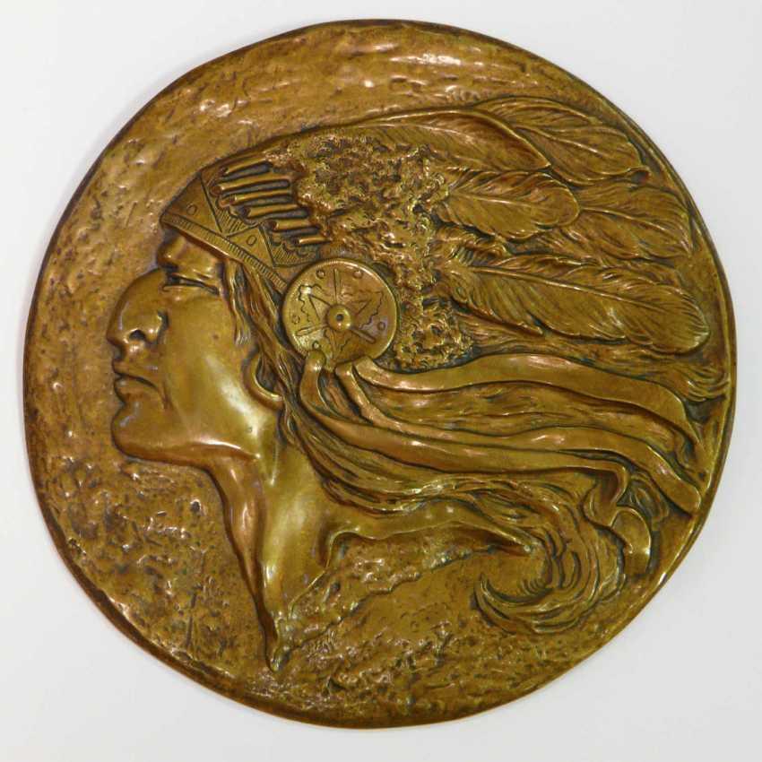 Two Bronze Plaques - photo 2