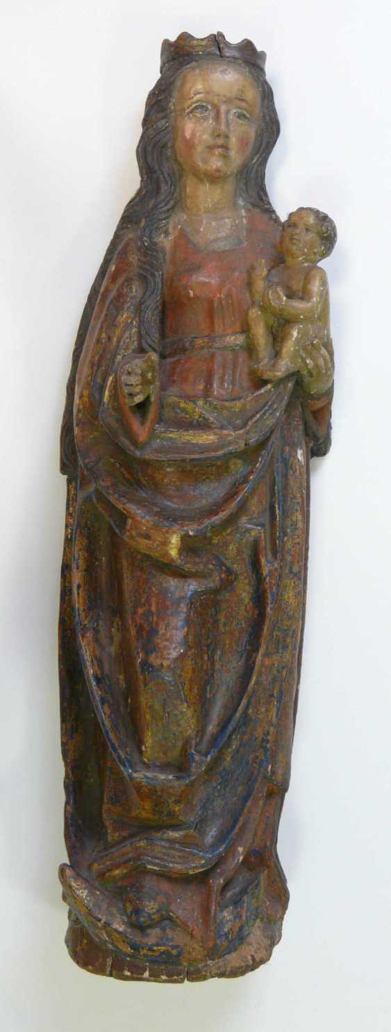 Gothic Madonna with the child Jesus  - photo 1