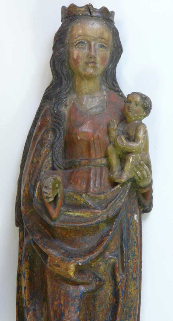 Gothic Madonna with the child Jesus  - photo 3