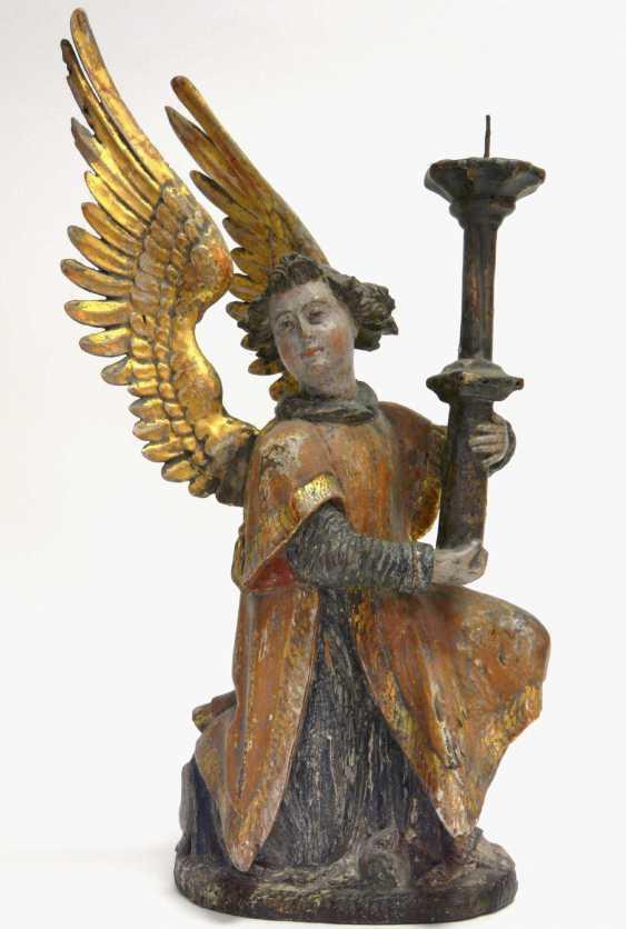 Pair Of Renaissance Candlesticks Angel  - photo 3