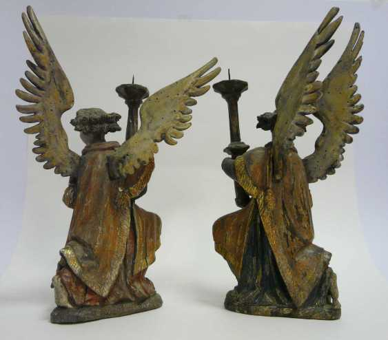 Pair Of Renaissance Candlesticks Angel  - photo 4