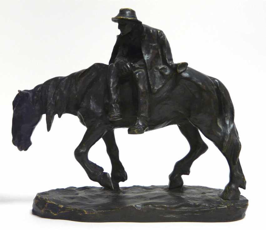 Heinz Müller, a bronze sculpture of a tired rider - photo 1