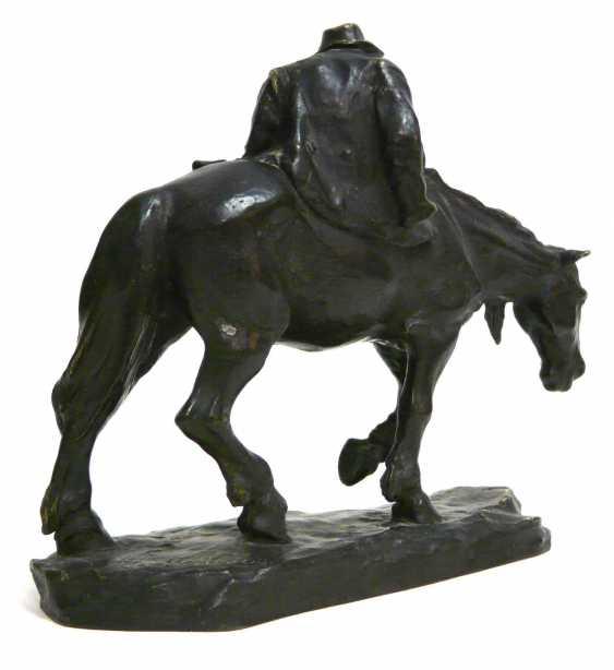 Heinz Müller, a bronze sculpture of a tired rider - photo 4