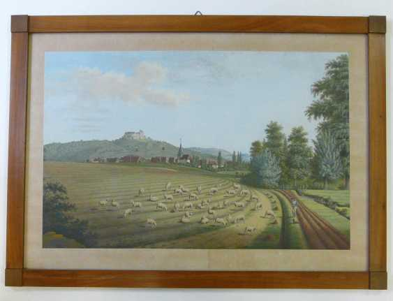 Johann cripple, Wide landscape with a shepherd and a view to the Veste Coburg (1813) - photo 2