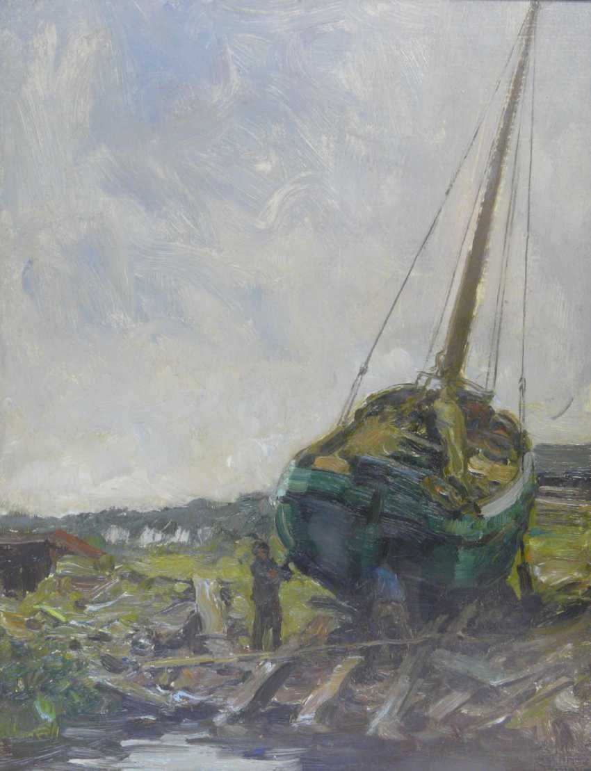 Julius Schrag, ship on the slipway at Oldersum / Emden - photo 1