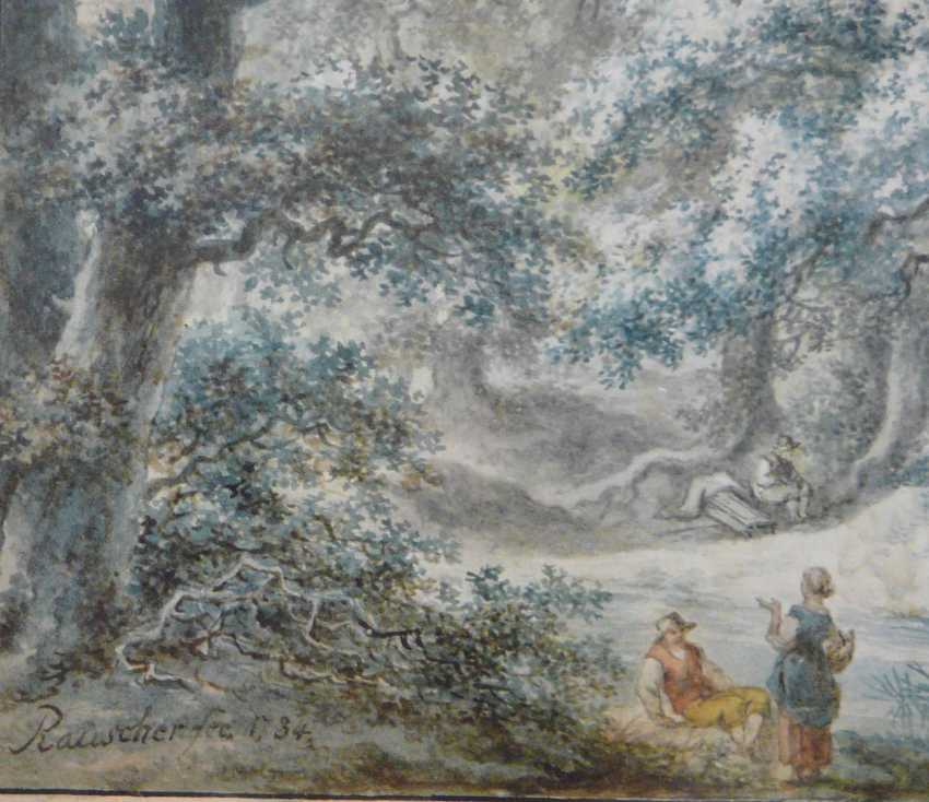 Johann Albrecht Friedrich Rauscher, resting under oak trees in the upper Franconian landscape (1784) - photo 3
