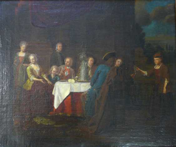 Dutch champion, Courtly table in front of Palace architecture (18. Century) - photo 1