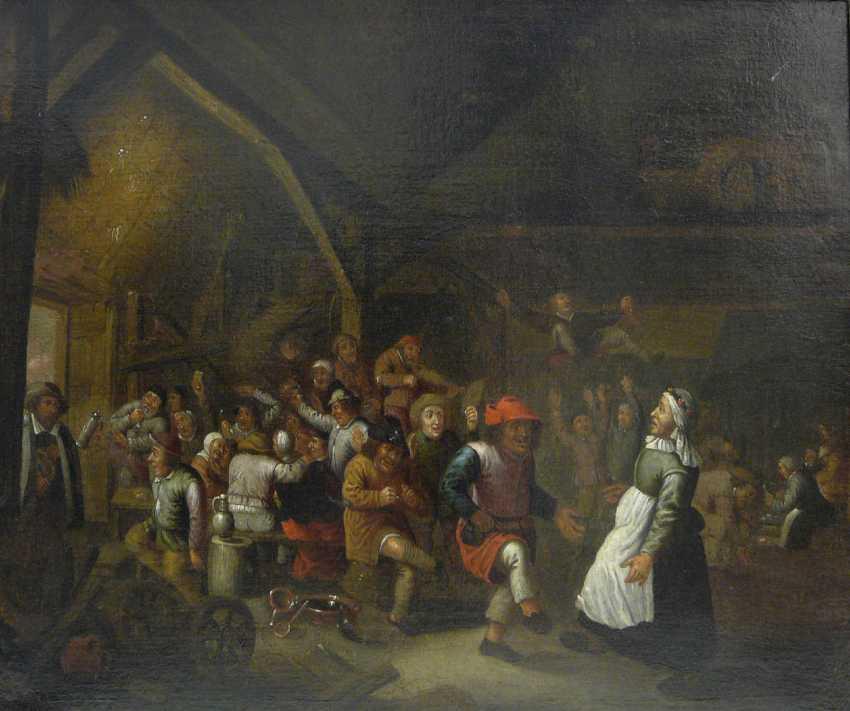 Victor Mahu (attr.), Lively Dutch tavern scene - photo 1