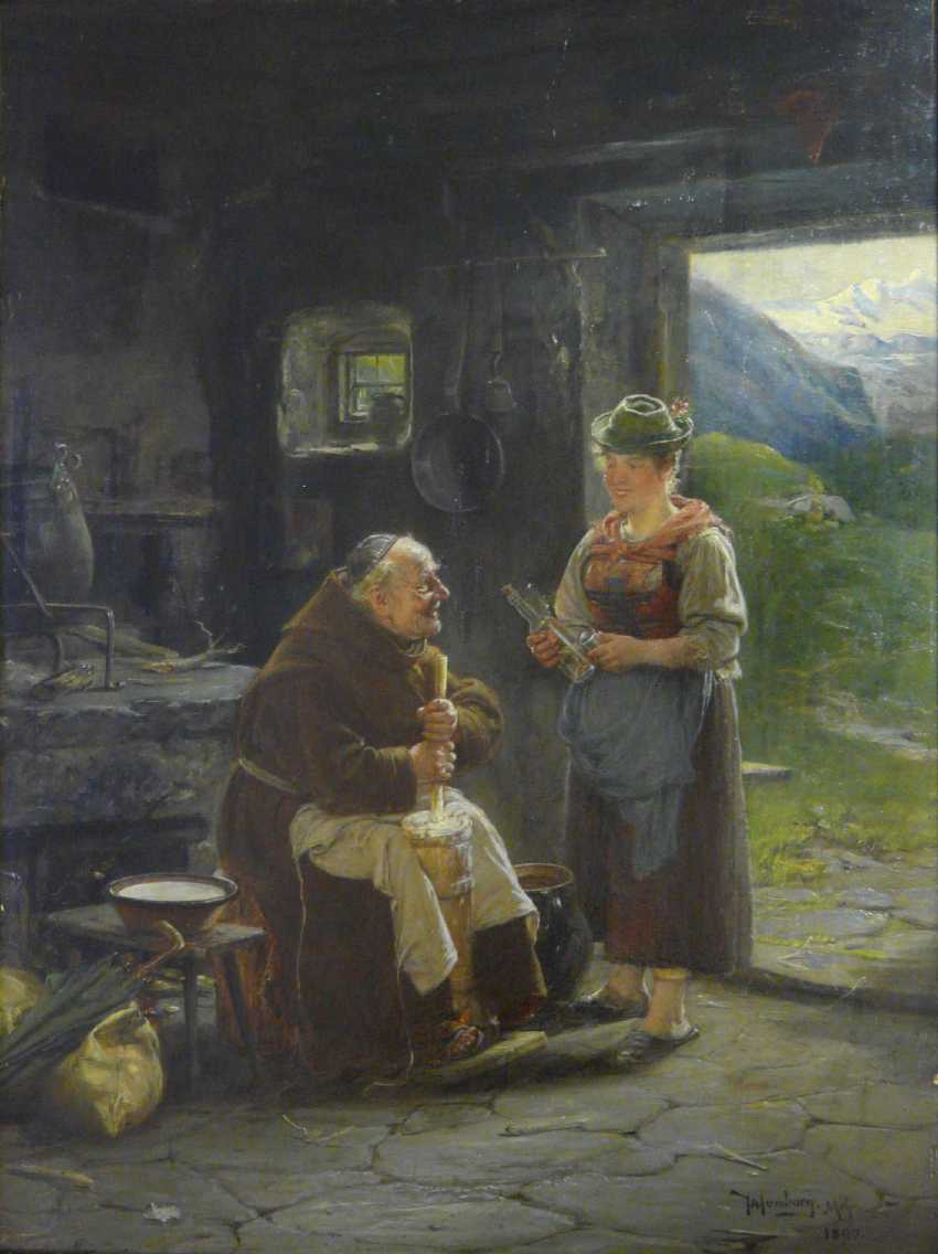 Adolf Humborg, The helpful mendicant monk (The cheese factory in the Alps) - photo 1
