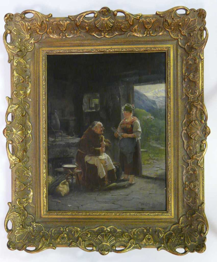 Adolf Humborg, The helpful mendicant monk (The cheese factory in the Alps) - photo 2
