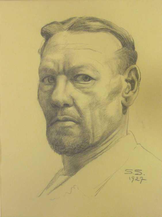 Sascha Schneider (discount) , self-portrait of the artist 1927 - photo 1