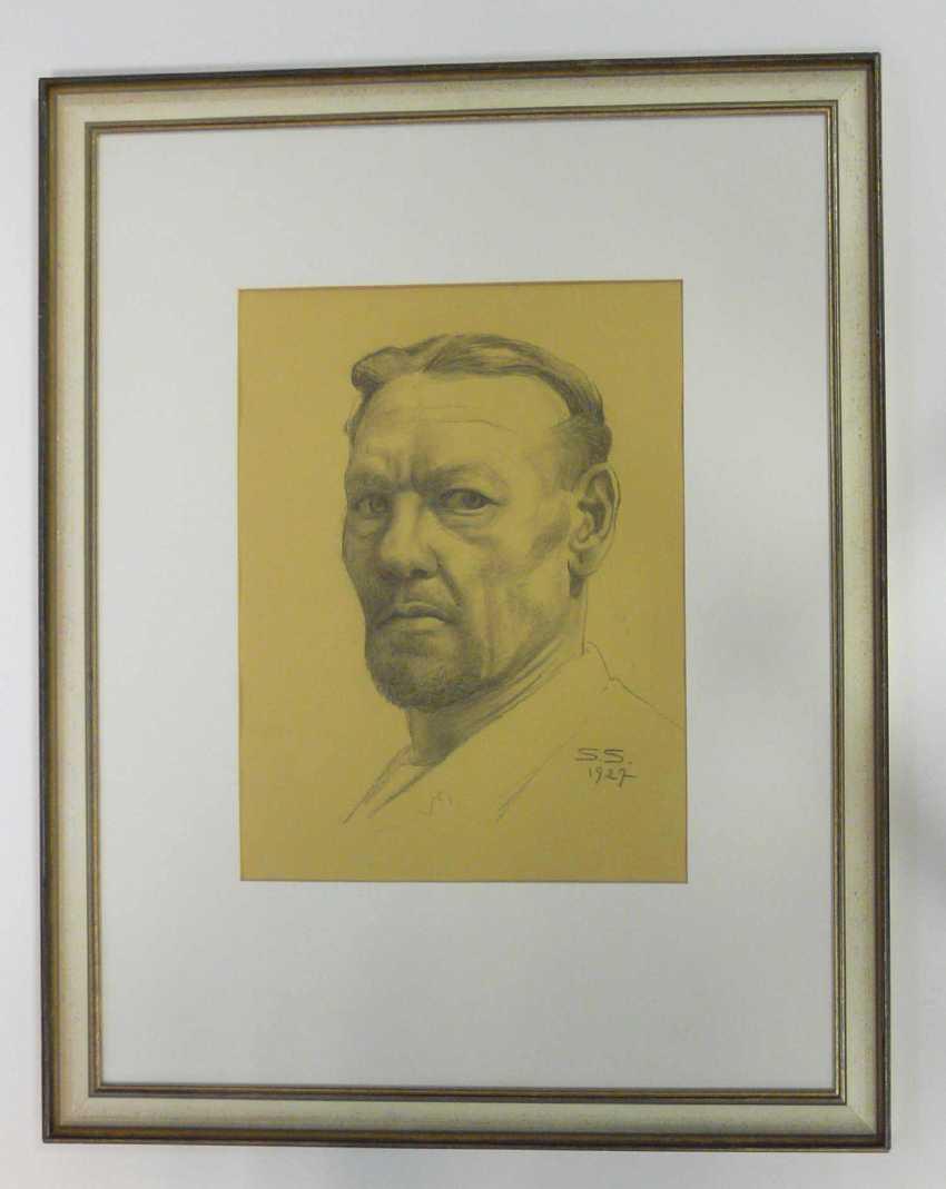 Sascha Schneider (discount) , self-portrait of the artist 1927 - photo 2