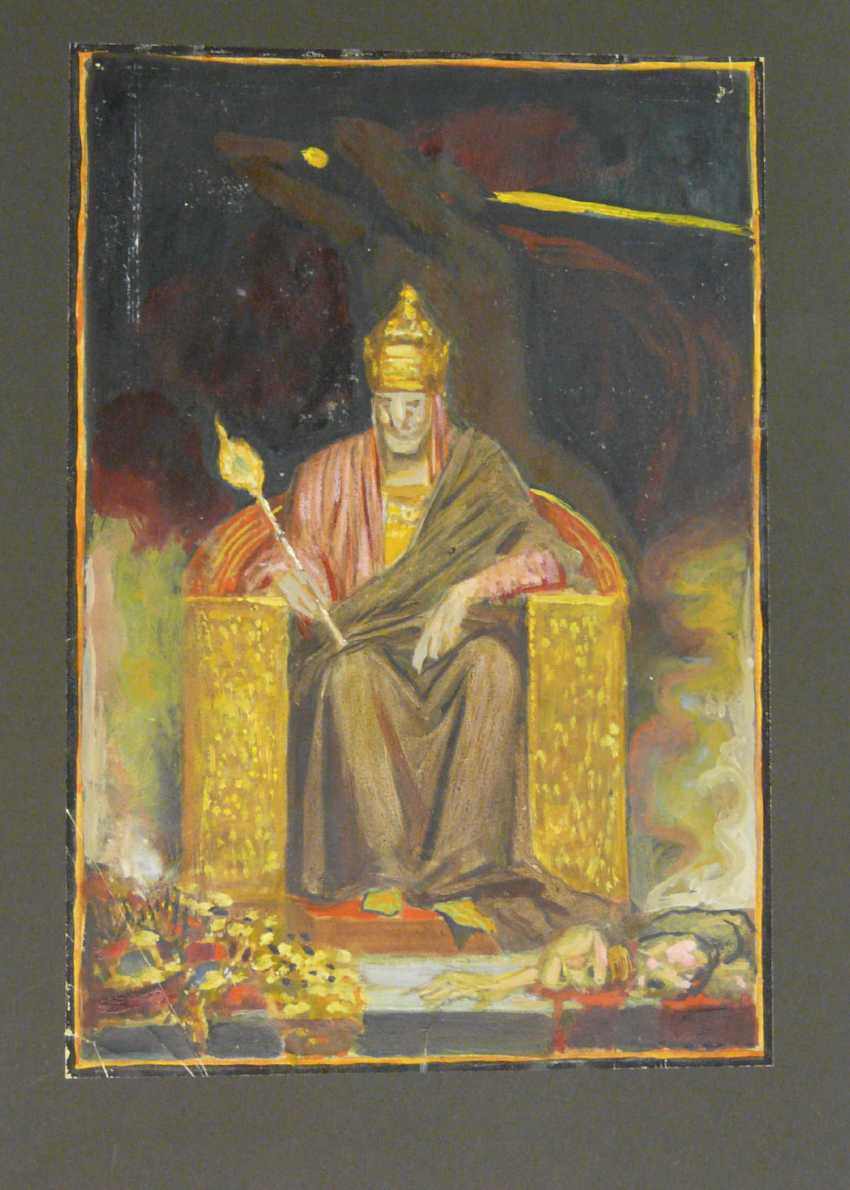 Sascha Schneider (estate of), seated ruler with sceptre - photo 2