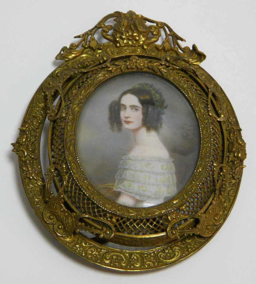 Miniature portrait of Alexandra Amalia, Princess of Bavaria (after J. K. Stieler) - photo 1