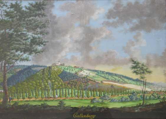 C. Strasser, Summer landscape near Coburg with Schloss Callenberg (around 1830/40) - photo 1