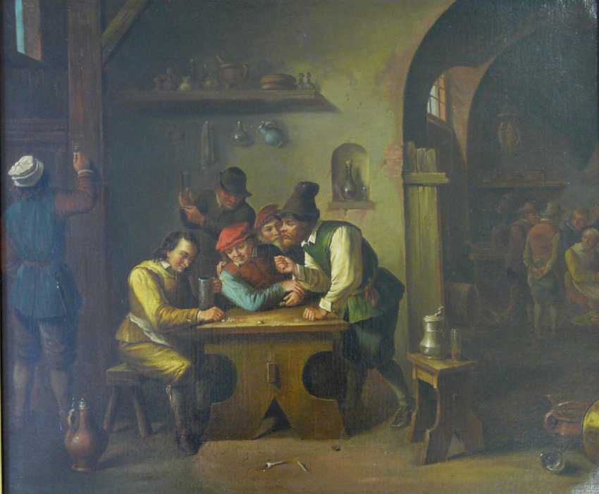 Franz wiesche brink (attr.), In a dice game in the tavern - photo 1