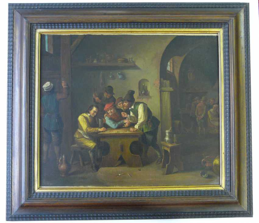Franz wiesche brink (attr.), In a dice game in the tavern - photo 2