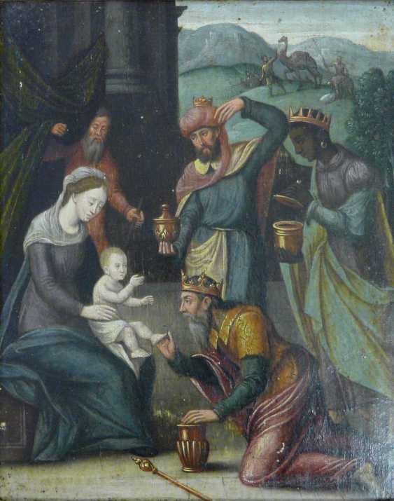 Flemish master of the 16th century. Century (?), The adoration of the Magi - photo 1