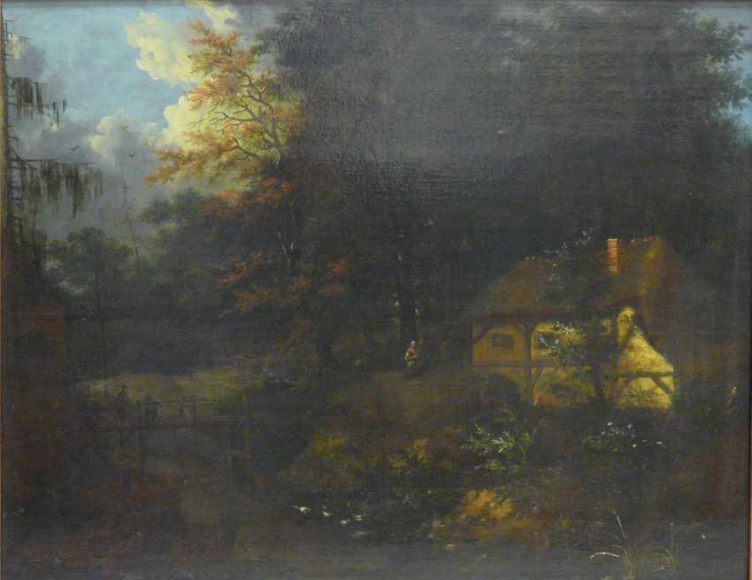Unknown artist, farmhouse forest brook - photo 2