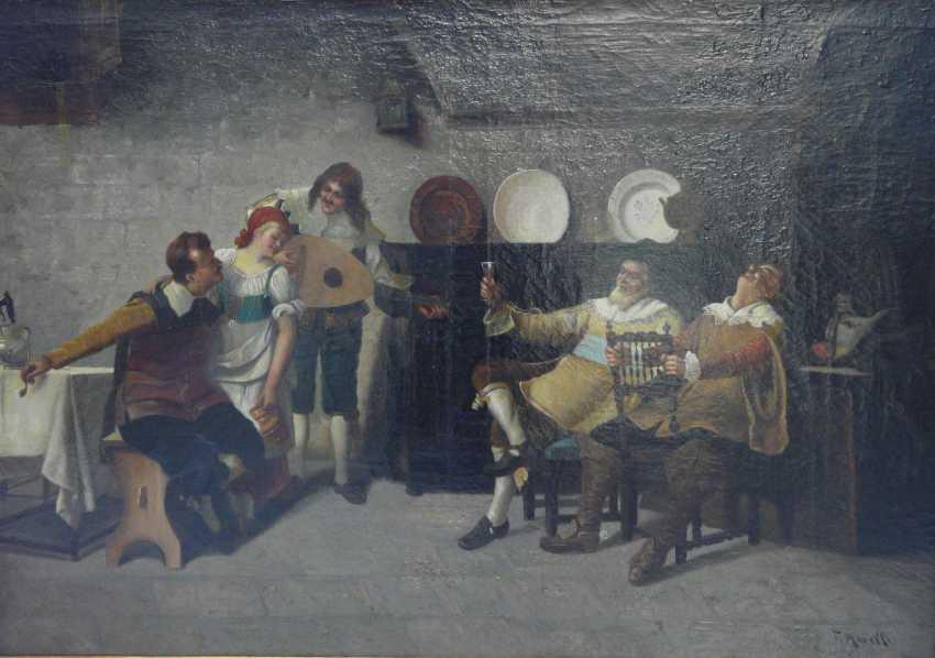 F. Morelli, Exuberant Celebration in the tavern - photo 1