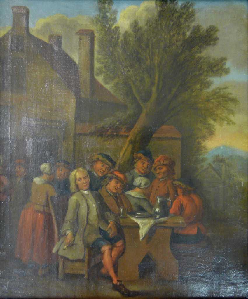 Flemish masters, and company in front of the tavern - photo 1