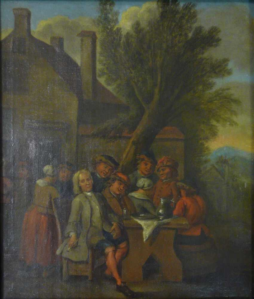 Flemish masters, and company in front of the tavern - photo 2