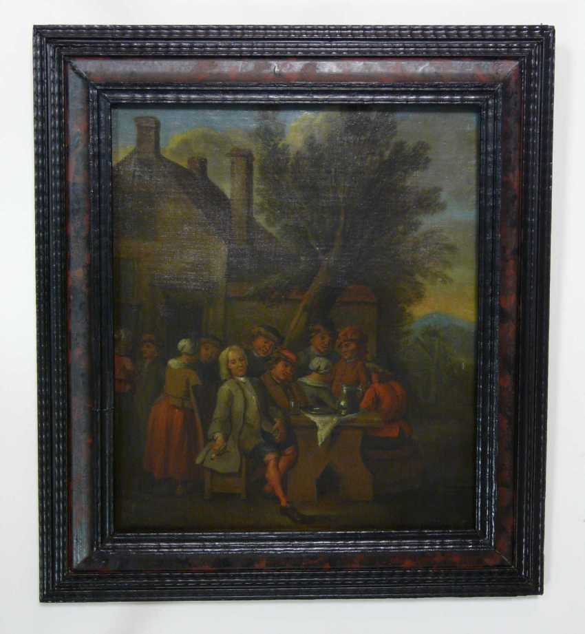 Flemish masters, and company in front of the tavern - photo 3