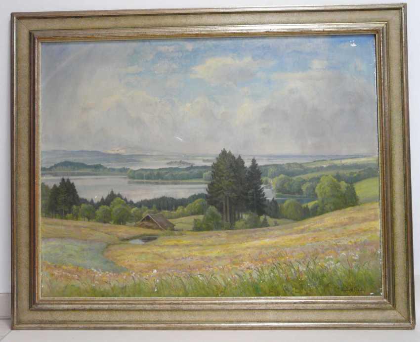Rudolf Sieck, Wide summer landscape at the lake Staffelsee in Garmisch - Partenkirchen  - photo 2